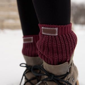 Love Your Melon Burgundy Boot Cuffs